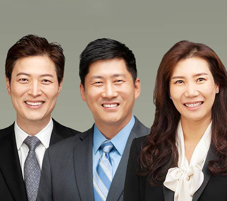Drs. Brian and Katherine Lee and Dr. Hwang